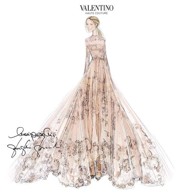 Frida-Giannini-Valentino-Wedding-Dress-Sketch