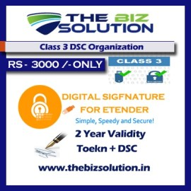 Class 3 Dsc Organisation Name Signing 2 Years Validity e tender low price