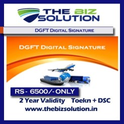DGFT EXIM Signature dsc with 2 Years Validity import export working dsc