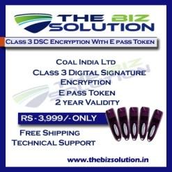 Class 3 digital signature for Coal India Ltd e tender process dsc low price