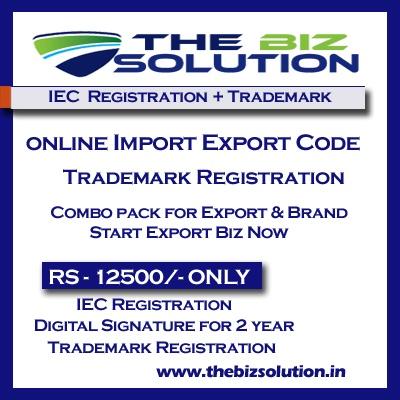Online IE Code Registration with Trademark | Import Export Registration