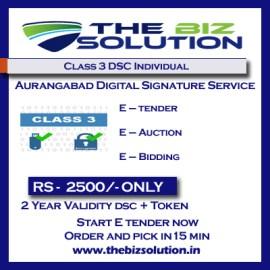 Class 3 Individual digital signature Certificate Aurangabad low price dsc
