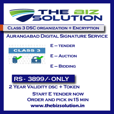 Class 3 Organization digital signature with encryption dsc aurangabad