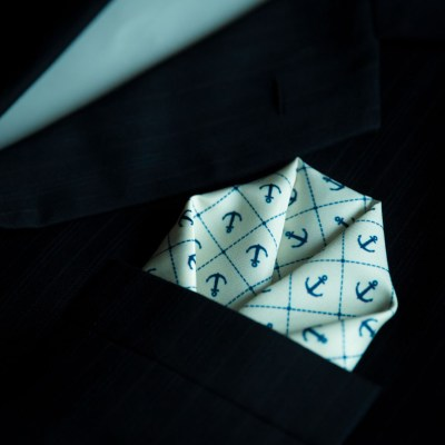 Anchor Pocket Square