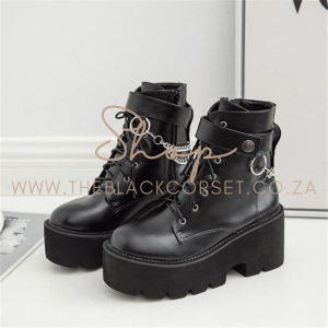 High Fashion Sneakers, Combat Boots, Boots, Trainers for Sale Online in South Africa Punk Fashion Thick Heel Boots