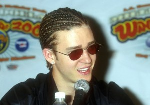 Singer Justin Timberlake, lead singer for N'Sync, attends the Wango Tango Concert on May 13, 2000, in Los Angeles, California. (Photo by Brenda Chase/Getty Images)
