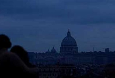 Picture of Vatican during Italy wide power cut of September 2003