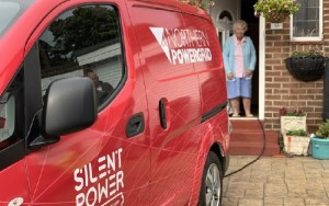 Electric-powered van used as part of Northern Powergrid Silent Power project
