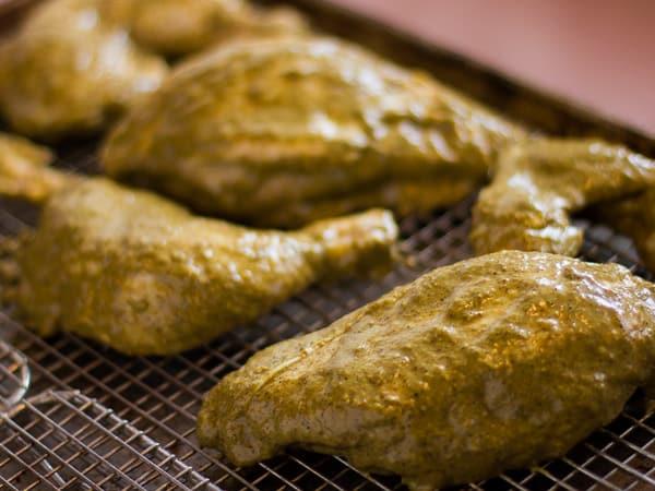 Oven Baked Jerk Chicken int the oven-2
