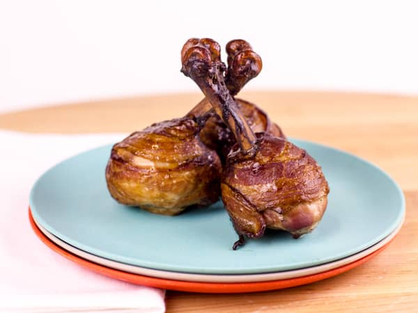 Bacon Wrapped Chicken Lollipops Smoked-26