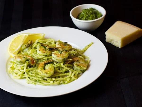 Pesto Shrimp Pasta-6