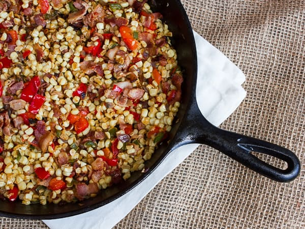 Skillet White Corn with Bacon-4