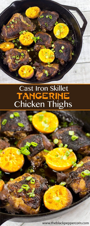 Cast Iron Tangerine Sesame Chicken Thighs