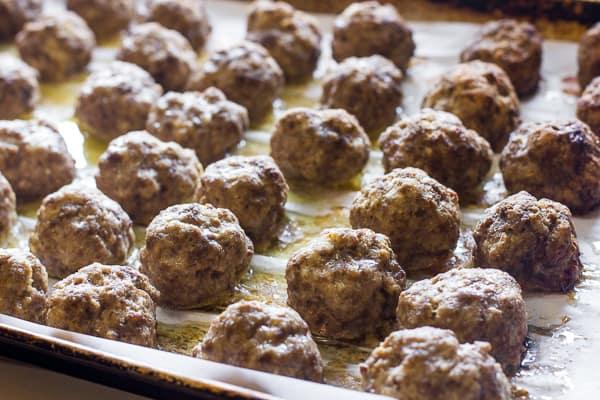 Image result for baked meatballs.