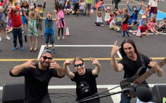 Death Metal band Obvurt plays show at Elementary School