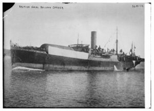 Title: British Naval Balloon Carrier<br /><br /><br /><br /><br /><br /><br /> Creator(s): Bain News Service, publisher<br /><br /><br /><br /><br /><br /><br /> Date Created/Published: [between ca. 1910 and ca. 1915]