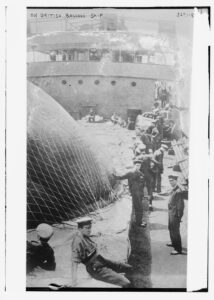 Title: On British Balloon ship<br /><br /><br /><br /><br /><br /><br /> Creator(s): Bain News Service, publisher<br /><br /><br /><br /><br /><br /><br /> Date Created/Published: [between ca. 1910 and ca. 1915]