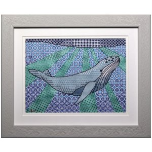 Humpback Whale Blackwork Embroidery Kit