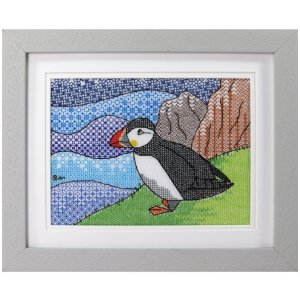 Puffin Blackwork Embroidery Kit