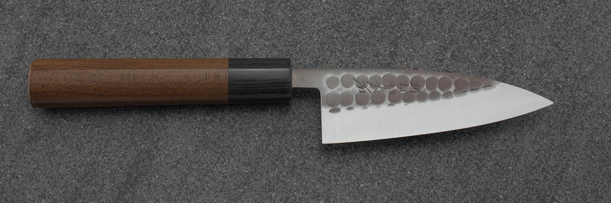 Ohishi Ajikiri (Fish Filleting Knife) Blue Steel #2, Kuro, 105mm, Japanese knife, Chef knife