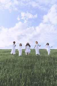 group of people standing on green grass field under blue sky