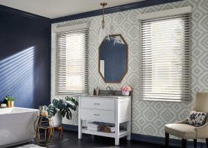 Graber Faux Wood Blinds Bathroom