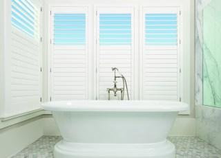 Bathroom White Shutters HD