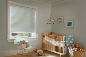 Hunter Douglas cordless shades nursery sonnette