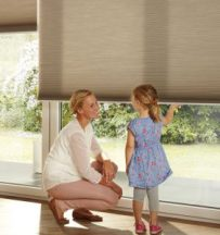 Hunter Douglas Cordless Shades are easy for kids