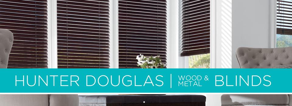 Hunter Douglas Wood & Metal Blinds