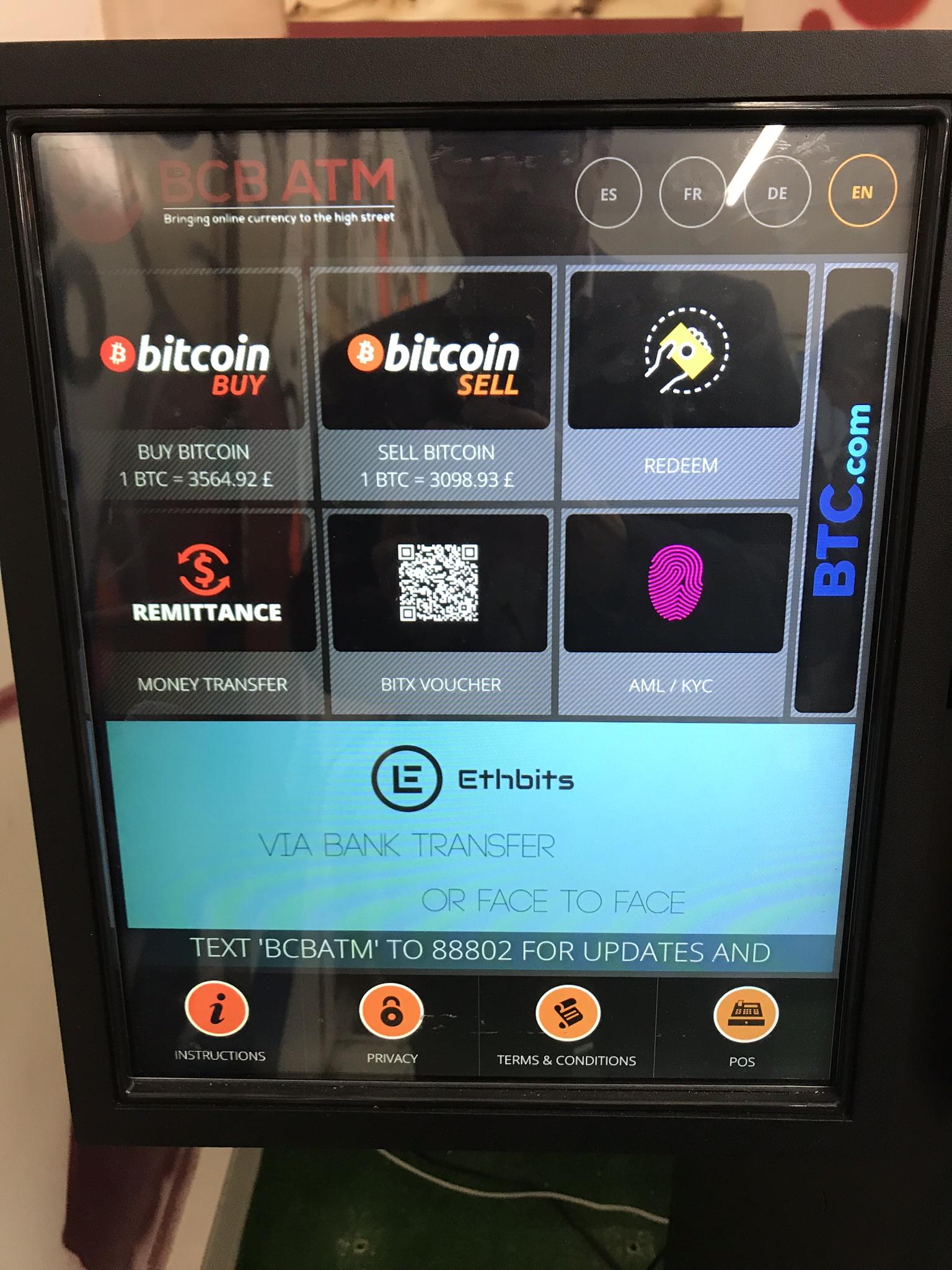 Bitcoin ATM BCB