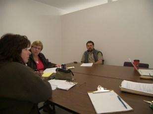 Board meeting: Meredith, Maureen, Paul