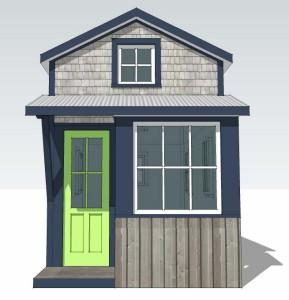 Tiny Studio, front elevation