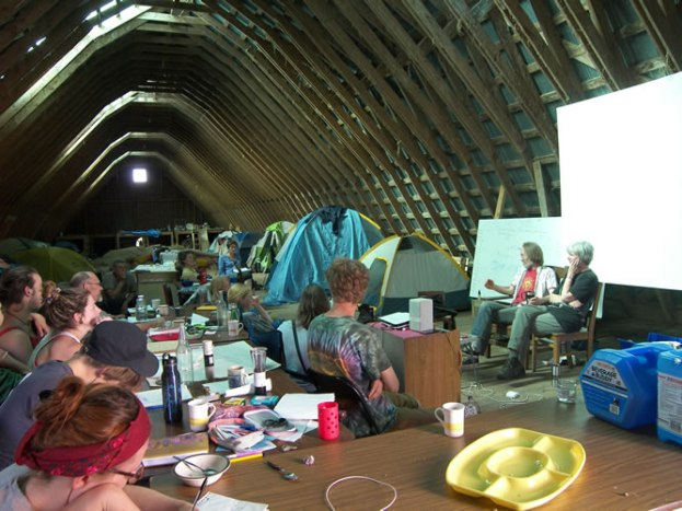 The barn-classroom-campground