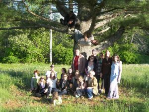 Our 2012 PDC class under and in the pine tree