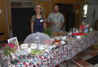 Heather S and Paul with CommuniTea spread