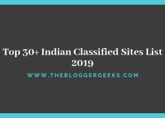 Top 30+ Indian Classified Sites List 2019