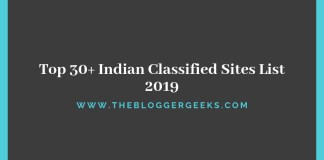 Indian Classified Sites List