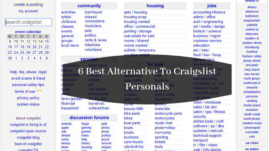 Craigslist Hudson Valley Cars >> 6 Best Alternative To Craigslist Personals To Post Free Ads