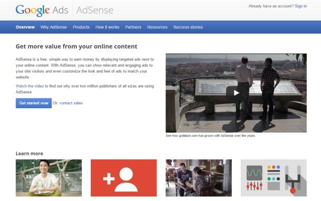 google adsense home
