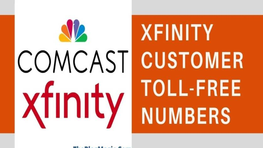 Toll-free number for Xfinity customer service.