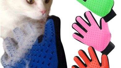 cat brushing gloves