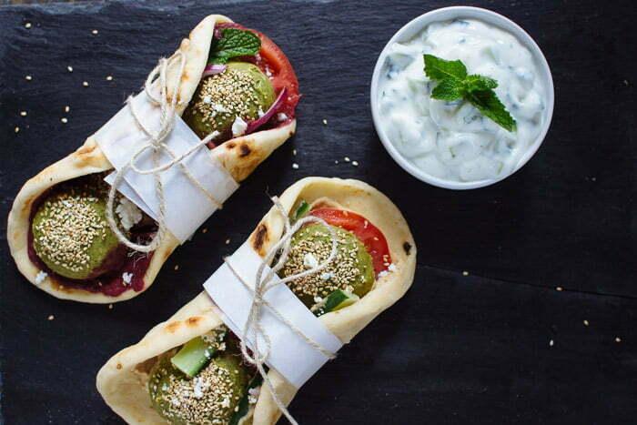 Falafel & Hummus Gyros