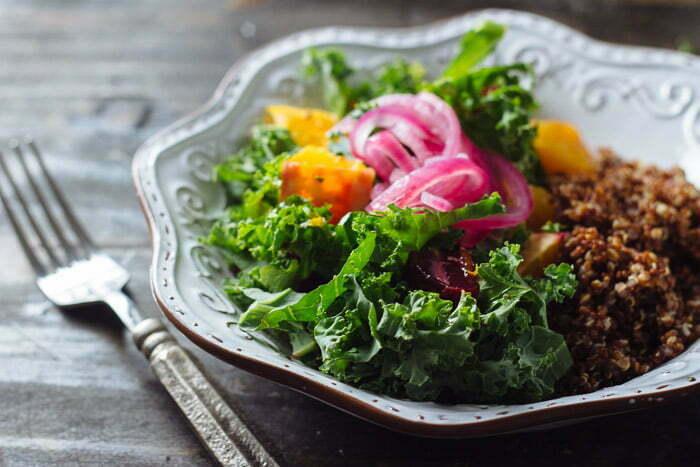 Beet and Kale Salad with Orange Vinaigrette