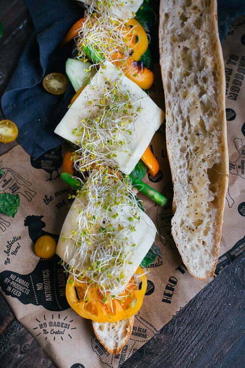 Rainbow Veggie Sub With Lemon Aioli