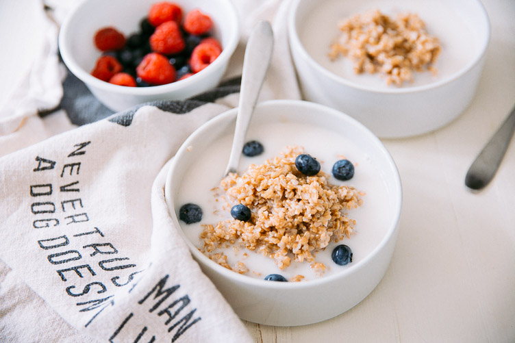 Cracked Wheat Berries with Coconut Milk & Mixed Fruit (A spin on an old classic)