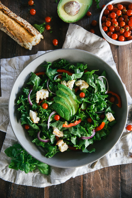 Italian Garden Salad (with fresh avocado, and the best dressing you've ever had!)