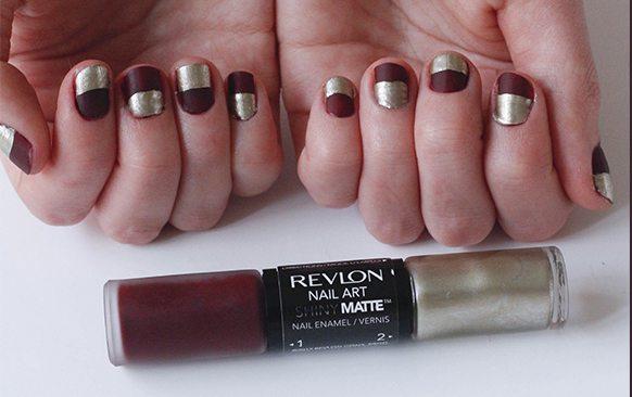 Half Nails With Revlon Shiny Matte The Blonlocks Life Style