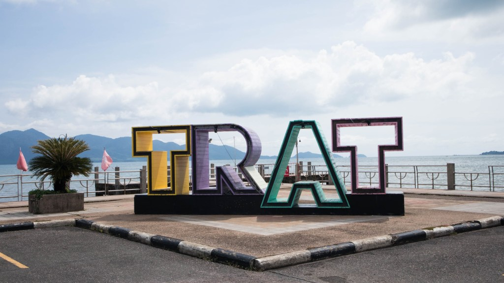 trat letters in trat, thailand