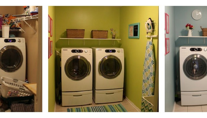 sherwin williams frolic, laundry room, blue